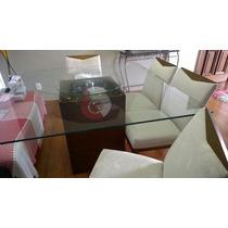Mesa De Jantar - Vidro 1,40 X 1,40 - 8mm - Temperado + Base