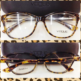 Armação Vo2740 Acetato Tartaruga Óculos Estilo Gatinho