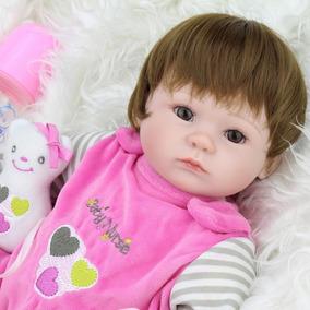 Bebe Reborn Boneca Silicone Baby Menina Barato Alive
