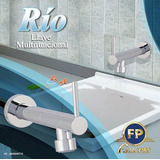Griferia Multifuncion Pared Rio Fp Batea Lavamanos Freg 20cm