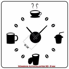 Relógio De Parede 3d - Autocolante - Para Cozinha Sala Etc