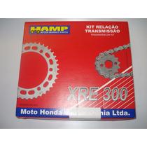 Kit Relação Corrente Coroa E Pinhão Honda Xre 300 Hamp