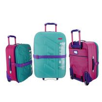 Set Valijas Coloridas Multicolores Fucsia Agua Violeta Rosa