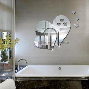 Espelho Decorativo Acrílico Coração 45 X 40cm Sala Quarto