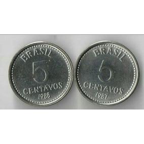 5 Centavos De Cruzados 1987 Escassas