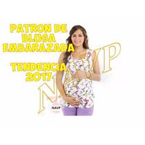 Patron De Blusa Maternidad Embarazo Coleccion 2017