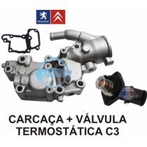 Carcaça Com Valvula Termostática Citroen C3 1.4 8v