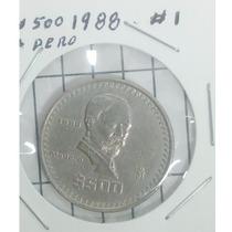 Moneda 500 Pesos Madero 1988 La Mas Cotizada De La Serie