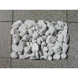 Piedras Bola/plato Blancas De Marmol 35 Kg Zona Norte
