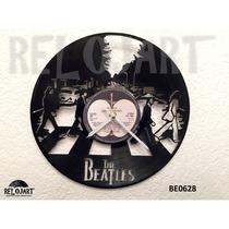 Original Reloj De Pared En Disco Lp - Beatles - Envio Gratis