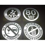 Calcomanias Reflectivas Use El Cinturon De Seguridad Y Mas