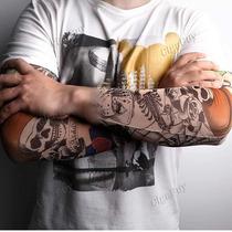 Tatuagem Caveira Manga Falsa Sleeve Fake Tattoo Shirt Perna