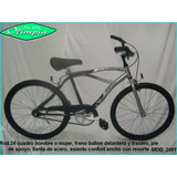 Bicicleta R24 Tipo Playera Freno Manual Nene Olimpia