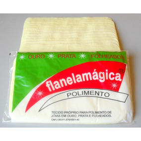 Flanela Mágica Limpa Joias De Ouro, Prata, Moedas Cx C/50 Un