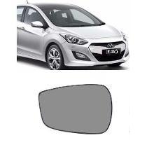 Vidro Refil Lente Espelho Retrovisor Cristal Hyundai I30 Esq