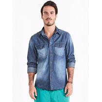 Camisa Masculina Em Jeans Hering - Medidas Logo Abaixo -