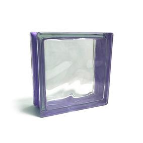 Porcelamika Ladrillo De Vidrio Color Violeta 19x19x8 Cm