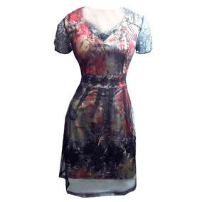 Vestido Rodado Com Sopreposição Vestidos Romanticos Florais