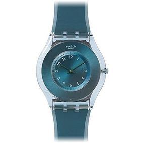 Swatch Buceo En Esfera Azul Silicona Azul Señoras Reloj Sfs