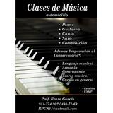 Clases A Domicilio De Piano Guitarra Canto Teoria Musical