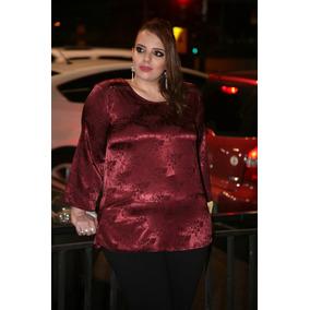 Blusa Tunica Moda Maior Plus Size