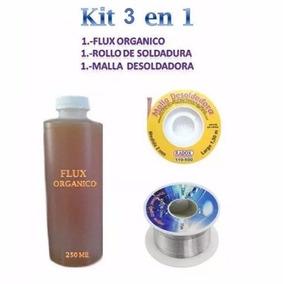Flux Organico Liquido,rollo De Soldadura ,malla Desoldadora