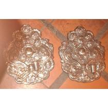 Criollo Candeleros Candelabros Pared Platado Estilo Colonial