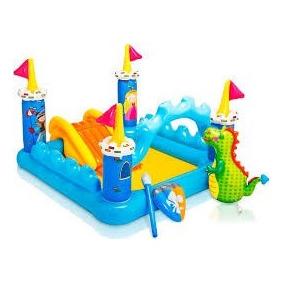 Brinquedos inflaveis brinquedos e hobbies em mato grosso for Piscina inflavel arco iris intex playground com escorregador