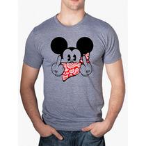 Camisa Camiseta Swag Mickey Bandana Estilo Thug Nine - Nova