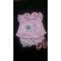 Vestidos Para Niñas Recién Nacidas En Algodón.t 0-3 Meses.