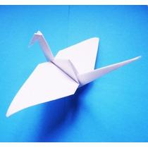 Grullas Blancas Origami Papel, 10+ 1 Regalo, Zon Norte 24hrs