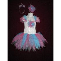 Nuevo Vestido Dress Tutu Disfraz Hada Carnaval Primavera