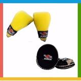 Kit Punch Fitness - Aparador De Soco Slim + Luva Bate Saco