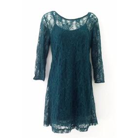 Vestido De Renda Verde Com Forro Forever 21 Novo Original P