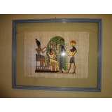 Cuadro Con Lamina De Papiro Egipcio