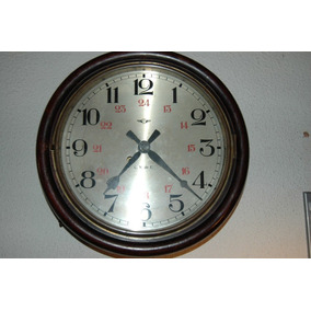 Espectacular Reloj De Pared Tipo Ferrocarril Marca Kienzle