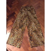 Pantalón Palazo Leopardo Zara Talle S/m Nuevo