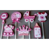 Topper Buhitas, Baby Shower Niña Cupcake Candybar Ponques