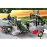 Caça De Combate Avião De Guerra Lego Compatível Exercito