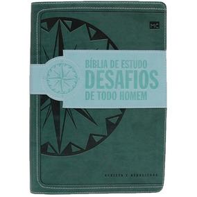 Bíblia De Estudos Desafios De Todo Homem Ra Verde