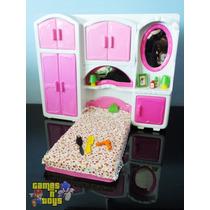 Quarto Cama Para Bonecas Armário Serve Susi Casa Da Barbie
