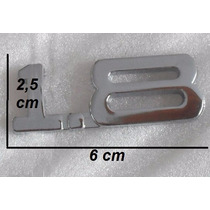 Emblema Adesivo Metal 1.8 Cromado Universal