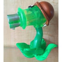 3 Figuras Zombie Vs Plantas Plastico 10 Cm Ametralladora Luz