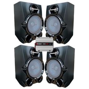 4 Caixas Philips Home + Amplificador 250w Usb/sd Bluetooth