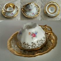 Fino Juego De Taza Y Platillo Porcelana Bavaria