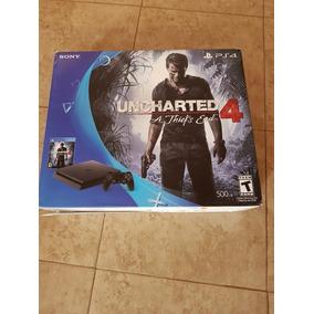 Playstation 4 Slim 500gb + 2 Joystick + 1 Juego Uncharted 4