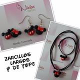 Mini Y Mickey Mouse Zarcillo Pulsera Collar Masa Flexible
