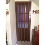 Puerta Plegable Pvc De 90 X 200 Cm