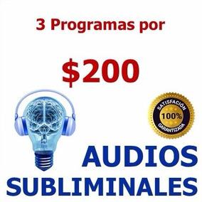 Paquete De Tres (3) Audios Subliminales - Super Precio