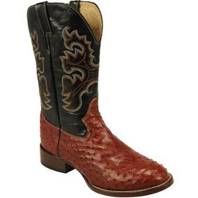 Bota Cowboy Masc Texana Exótica Silverado Couro Avestruz